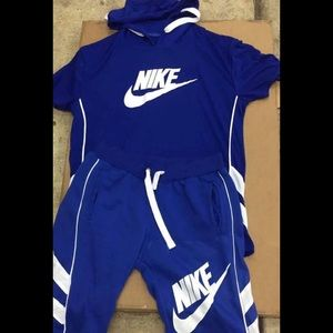 Kids Nike and polo sweatsuits